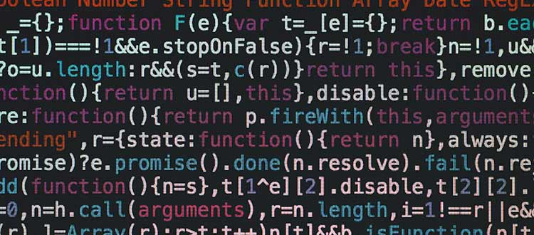 A line of Computer code